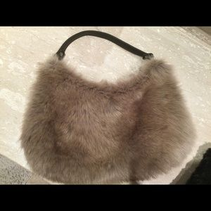 50%off One of kind faux fur purse